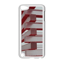 Red Sunglasses Art Abstract  Apple iPod Touch 5 Case (White)