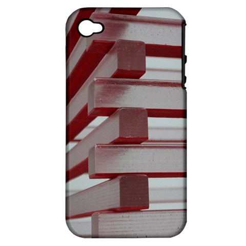 Red Sunglasses Art Abstract  Apple iPhone 4/4S Hardshell Case (PC+Silicone)