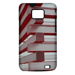 Red Sunglasses Art Abstract  Samsung Galaxy S II i9100 Hardshell Case (PC+Silicone)