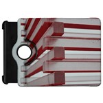 Red Sunglasses Art Abstract  Kindle Fire HD Flip 360 Case Front