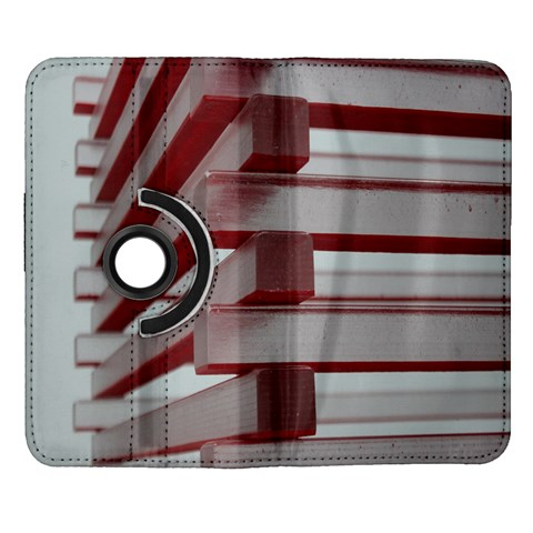 Red Sunglasses Art Abstract  Samsung Galaxy Note II Flip 360 Case