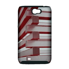 Red Sunglasses Art Abstract  Samsung Galaxy Note 2 Hardshell Case (PC+Silicone)