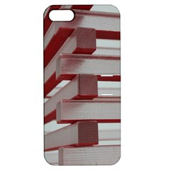 Red Sunglasses Art Abstract  Apple iPhone 5 Hardshell Case with Stand