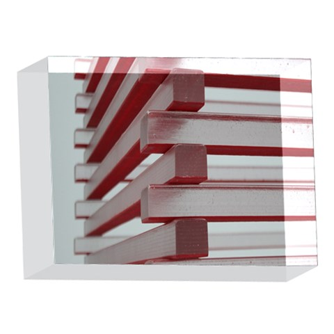Red Sunglasses Art Abstract  5 x 7  Acrylic Photo Blocks