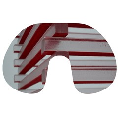 Red Sunglasses Art Abstract  Travel Neck Pillows