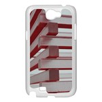 Red Sunglasses Art Abstract  Samsung Galaxy Note 2 Case (White) Front