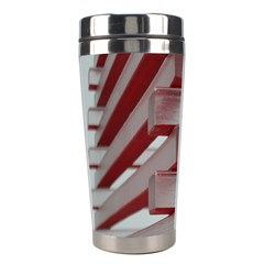 Red Sunglasses Art Abstract  Stainless Steel Travel Tumblers
