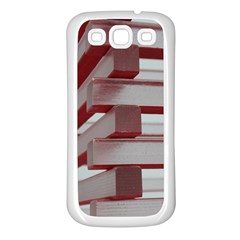 Red Sunglasses Art Abstract  Samsung Galaxy S3 Back Case (White)