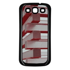 Red Sunglasses Art Abstract  Samsung Galaxy S3 Back Case (Black)