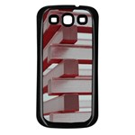 Red Sunglasses Art Abstract  Samsung Galaxy S3 Back Case (Black) Front
