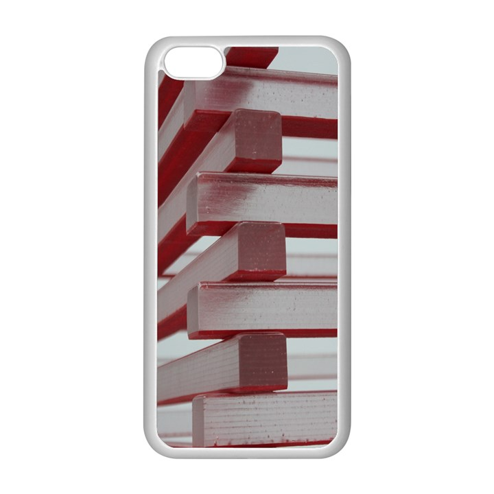 Red Sunglasses Art Abstract  Apple iPhone 5C Seamless Case (White)