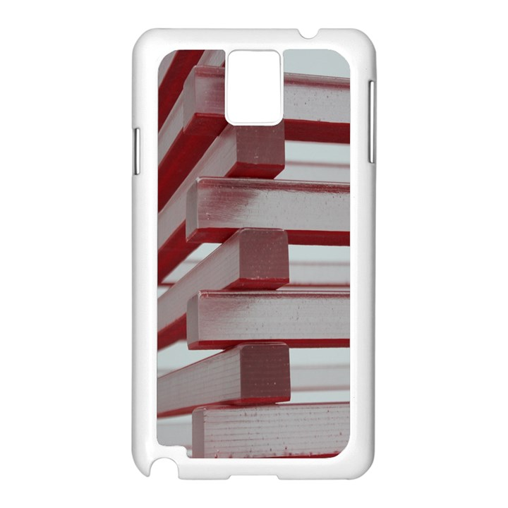 Red Sunglasses Art Abstract  Samsung Galaxy Note 3 N9005 Case (White)