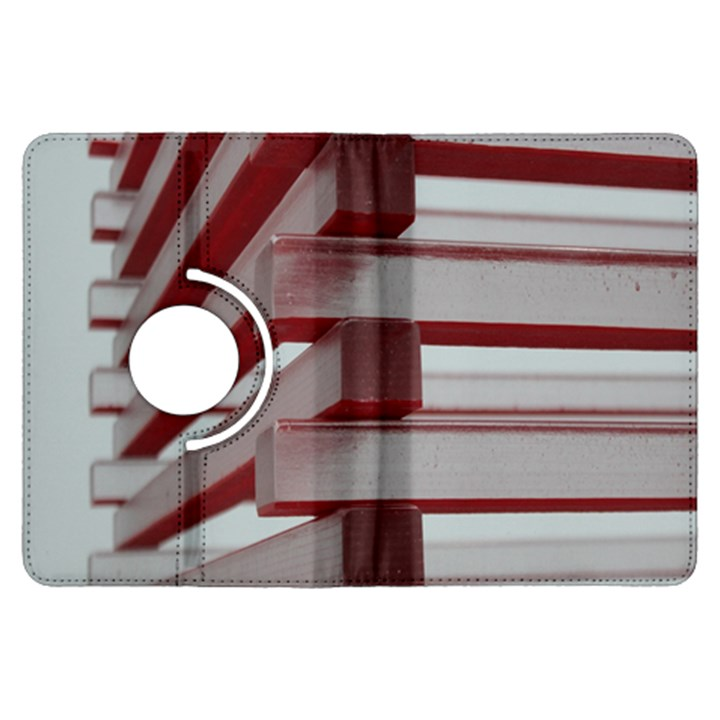 Red Sunglasses Art Abstract  Kindle Fire HDX Flip 360 Case