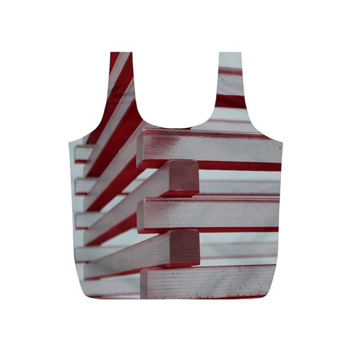 Red Sunglasses Art Abstract  Full Print Recycle Bags (S)