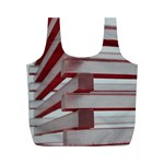 Red Sunglasses Art Abstract  Full Print Recycle Bags (M)  Back