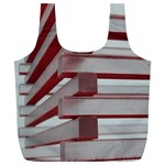 Red Sunglasses Art Abstract  Full Print Recycle Bags (L)  Back