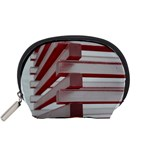 Red Sunglasses Art Abstract  Accessory Pouches (Small)  Front