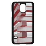 Red Sunglasses Art Abstract  Samsung Galaxy S5 Case (Black) Front