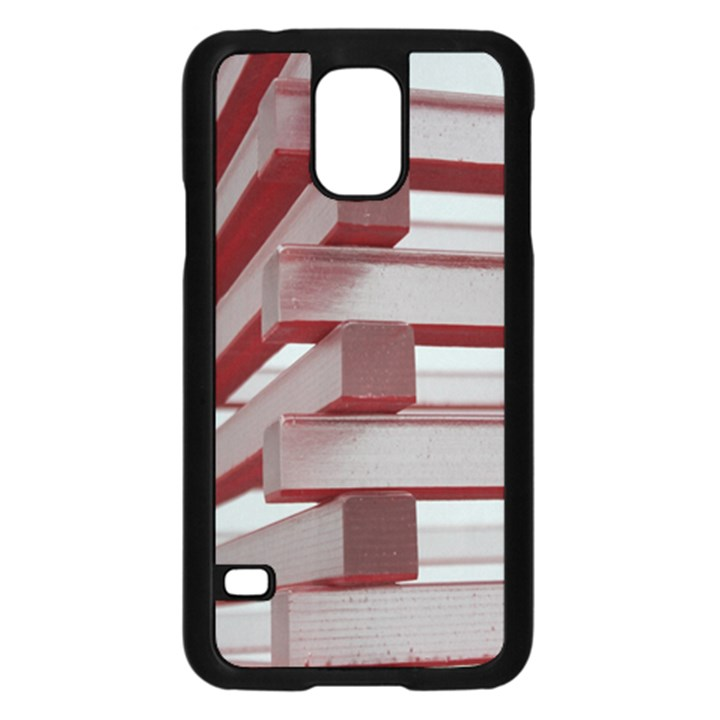 Red Sunglasses Art Abstract  Samsung Galaxy S5 Case (Black)