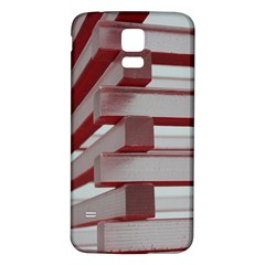 Red Sunglasses Art Abstract  Samsung Galaxy S5 Back Case (White)