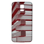 Red Sunglasses Art Abstract  Samsung Galaxy S5 Back Case (White) Front