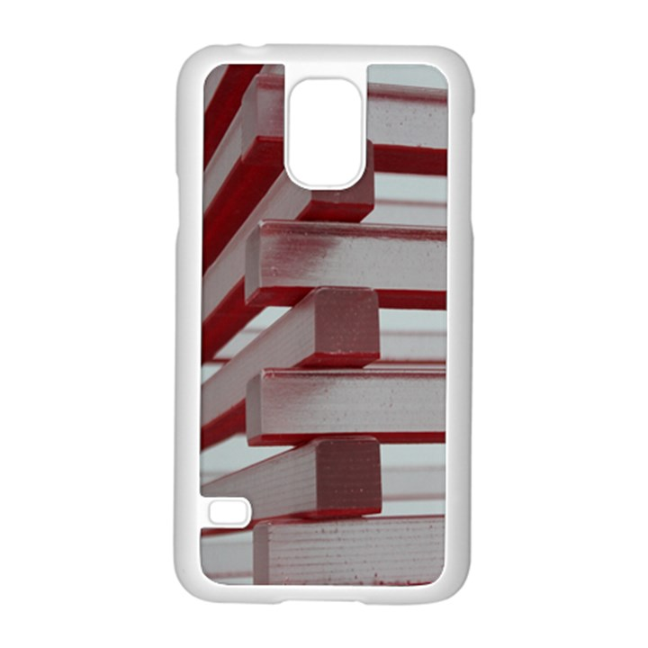 Red Sunglasses Art Abstract  Samsung Galaxy S5 Case (White)