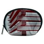 Red Sunglasses Art Abstract  Accessory Pouches (Medium)  Front