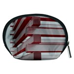 Red Sunglasses Art Abstract  Accessory Pouches (Medium)  Back