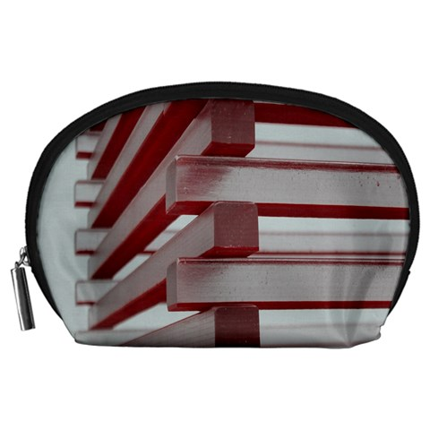 Red Sunglasses Art Abstract  Accessory Pouches (Large)