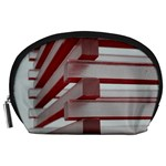 Red Sunglasses Art Abstract  Accessory Pouches (Large)  Front