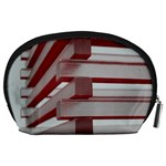 Red Sunglasses Art Abstract  Accessory Pouches (Large)  Back