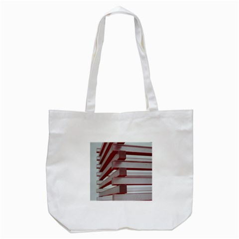 Red Sunglasses Art Abstract  Tote Bag (White)