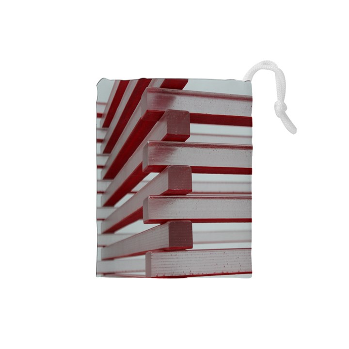 Red Sunglasses Art Abstract  Drawstring Pouches (Small)