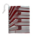 Red Sunglasses Art Abstract  Drawstring Pouches (Large)  Back