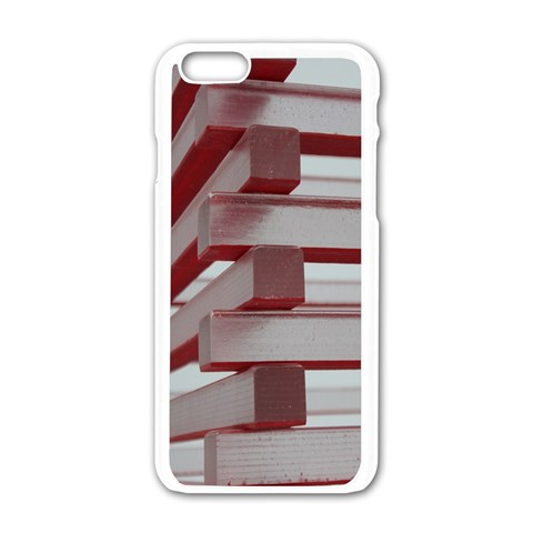 Red Sunglasses Art Abstract  Apple iPhone 6/6S White Enamel Case