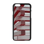 Red Sunglasses Art Abstract  Apple iPhone 6/6S Black Enamel Case Front