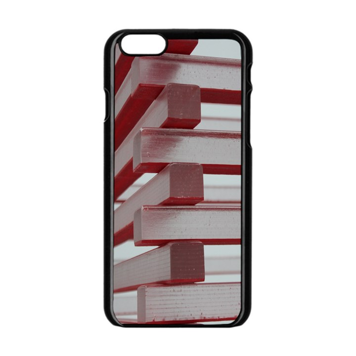 Red Sunglasses Art Abstract  Apple iPhone 6/6S Black Enamel Case