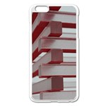Red Sunglasses Art Abstract  Apple iPhone 6 Plus/6S Plus Enamel White Case Front