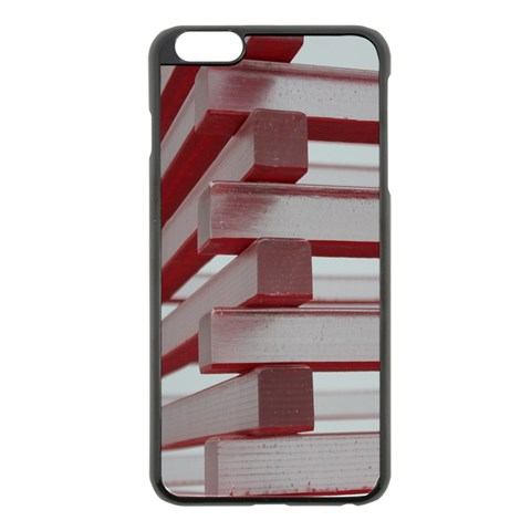 Red Sunglasses Art Abstract  Apple iPhone 6 Plus/6S Plus Black Enamel Case