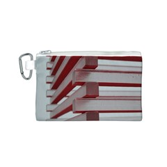 Red Sunglasses Art Abstract  Canvas Cosmetic Bag (S)