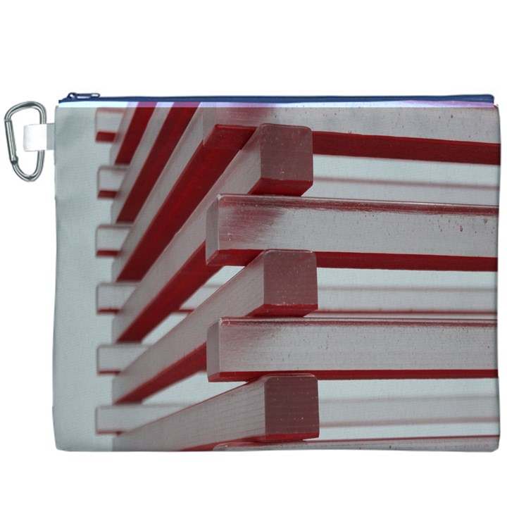 Red Sunglasses Art Abstract  Canvas Cosmetic Bag (XXXL)