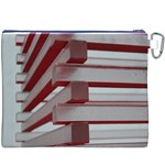 Red Sunglasses Art Abstract  Canvas Cosmetic Bag (XXXL) Back