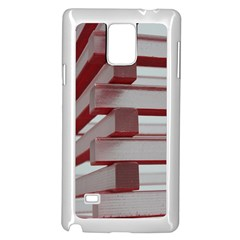 Red Sunglasses Art Abstract  Samsung Galaxy Note 4 Case (White)