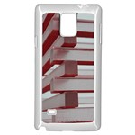 Red Sunglasses Art Abstract  Samsung Galaxy Note 4 Case (White) Front