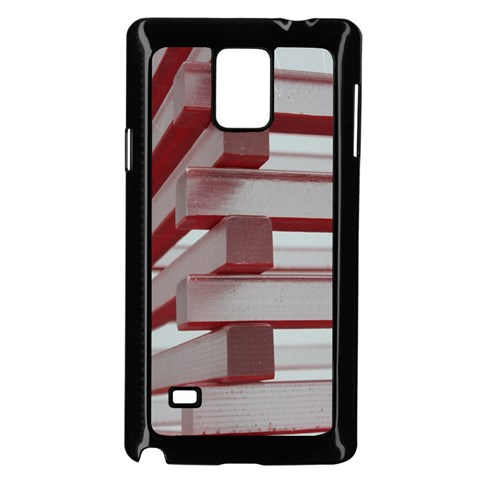 Red Sunglasses Art Abstract  Samsung Galaxy Note 4 Case (Black)