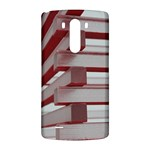 Red Sunglasses Art Abstract  LG G3 Back Case Front