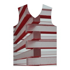 Red Sunglasses Art Abstract  Men s Basketball Tank Top