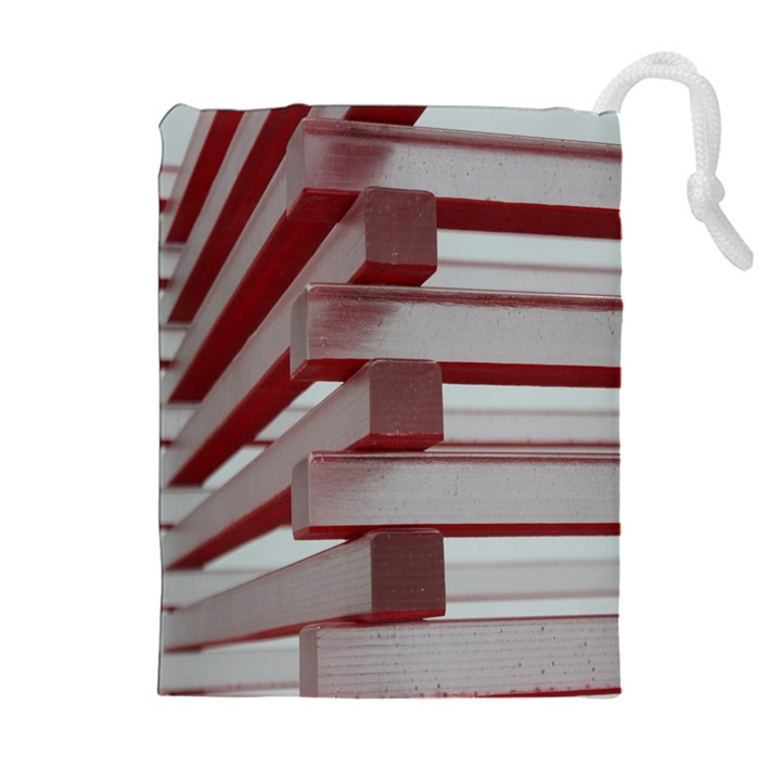 Red Sunglasses Art Abstract  Drawstring Pouches (Extra Large)
