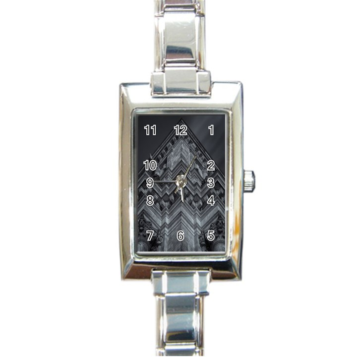 Reichstag Berlin Building Bundestag Rectangle Italian Charm Watch