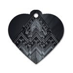 Reichstag Berlin Building Bundestag Dog Tag Heart (Two Sides) Front